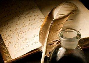 Ecriture à la plume, écrire futile