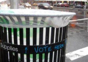 Les votes à la poubelle